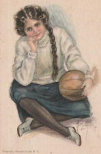 A/S ALICE LUELLA FIDLER 1911 AMERICAN GIRL NO. 12 ~ LOVELY PC Basketball SPORTS