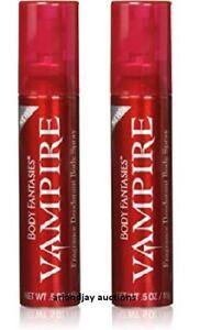 Lot of 2 New Body Fantasies Vampire Fragrance Deodorant Body Spray 0.5 oz each