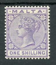 Malta 1885-90 1s violet fine MM SG29 cat £50