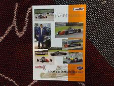 FORMULA FORD PHOTO CARD - JAMES HARRIS - TEAM JATO MOTORSPORT