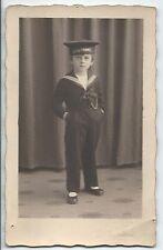 BP216 Carte Photo vintage card RPPC Enfants jeune Marin déguisement marine