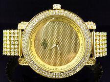 Men Genuine Diamond 2 Row Lab Diamond Band Diamond Master Joe Rodeo Watch .12Ct