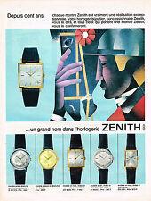 PUBLICITE ADVERTISING 044  1965  ZENITH  un grand nom de l'horlogerie  montres