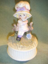 """Vintage Girl With Kitty Cat Music Box Feelings"""" musical"""