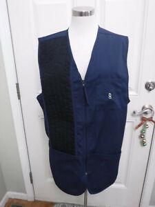 Men's BOB ALLEN L Blue Cotton Shooting Hunting Trap Skeet Sporting Vest Jacket