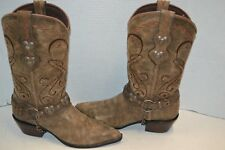 Durango $180 Womens Crush Heartbreaker HARNESS Boots 6.5 M Brown Leather RD4155