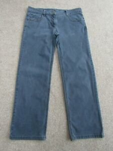 """Fat Face Jeans size 14 Straight Wide'ish Cut. Leg 31"""". Blue Stretch. Free Post"""