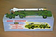DINKY SUPERTOYS N. 666 MISSILE ERECTOR VEHICLE AND LAUNCHING PLATFORM ENGLAND