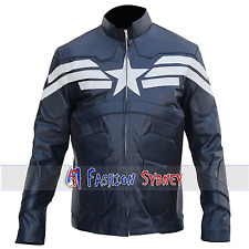 Men's The Winter Soldier Captain America Synthetic Leather Jacket High Quality.
