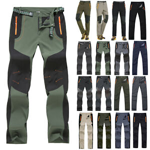 Men Tactical Cargo Combat Trousers Hiking Climbing Outdoor Fishing Work Pants UK