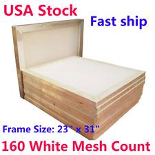 "USA Stock! 6pcs 23"" x 31"" Aluminum Frame Printing Screens with 160 Mesh"