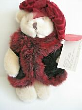 "New 7"" Russ Berrie Natasha # 4500 Teddy Bear in Fur Coat and Hat Nwt"
