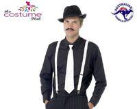 1920's Gangster Mens Set kit Black Hat Braces Tie Cigar
