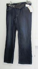 Angels Jeans Womens Plus Boot Cut Jeans with Belt Sz 16W - NWT
