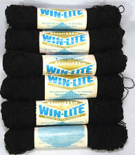 Black Bucilla Yarn 16 Skeins Knitting Crafts Hand Washable Acrylic Nylon Blend