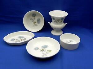 Group lot WEDGWOOD **ICE ROSE** Trinket Dishes , Urn Vase, Bowl etc - Excellent