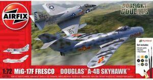 AIRFIX 50185 MIG 17F FRESCO DOUGLAS A-4B SKYHAWK DOGFIGHT DOUBLE model kit 1:72