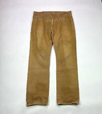 American Eagle Slim Straight Mens Size 34 X 32 Tan Wash Denim Jeans
