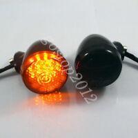 2x Softail Motorcycle LED Turn Signal Indicator Amber Lights For Harley Davidson