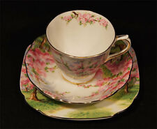 C.1940'S ROYAL ALBERT BLOSSOM TIME TRIO TOP UNUSED CONDITION MADE IN ENGLAND s9.