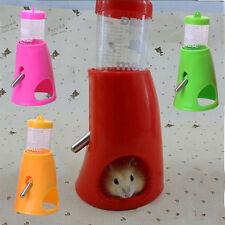 80ml Pet Hamster Water Drinker Dispenser Food Stand Feeder Dish Bowl Bottle NEW