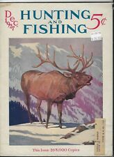 Vintage Hunting and Fishing Magazine Dec.1927 - Good Condition