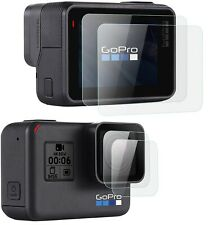 For GoPro Hero 7 (Black Only) Lens + Lcd Screen Glass Screen Protector