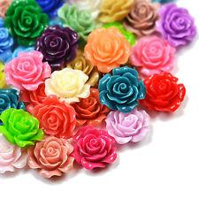 22mm Lucite Flower RESIN ROSE Cabochon Flatback Embellishment DIY Jewellery