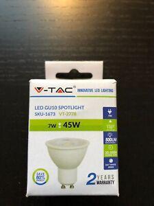 V-TAC 7W (45W) LED GU10 SPOTLIGHT DAY WHITE (COOL WHITE) 4000K SKU-1673