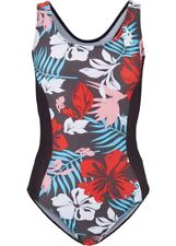 Damen Shape Badeanzug mit Schwimmerrücken in schwarz/braun/weiß Gr. 46 A+B - Neu