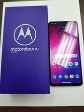 "New listing Screen Crack Motorola One Hyper 128Gb 4Gb Ram (Factory Unlocked) 6.5""(Blue)"