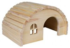 Hamster Toy HAMSTER HOUSE Wooden Oval Roof Small Animal Gerbil Mouse TRIXIE 19cm