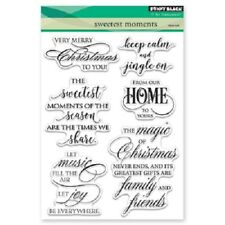 PENNY BLACK RUBBER STAMPS CLEAR SWEETEST MOMENTS NEW clear STAMP SET