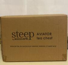 Steep by Bigelow Aviator Tea Chest 8 Pockets