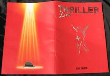 Michael Jackson Programme THRILLER LIVE London Lyric Theatre Program UK 2009