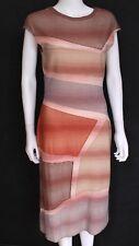 NUOVO MISSONI ORANGE Rosa Stretch Kint dress IT 42 UK 10