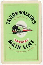 Playing Cards 1 Swap Card - Old TAYLOR WALKER Brewery MAIN LINE ALE Beer TRAIN
