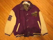 SIR BENNI MILES vintage hip hop mvp balla NY all star 1969 JACKET purple 5xl