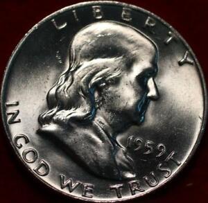 Uncirculated 1959-D Denver Mint Silver Franklin Half