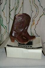 VINTAGE FRYE WOMEN'S COWBOY COWGIRL BOOTS WINE COLOR SIZE 6.5AA 1980
