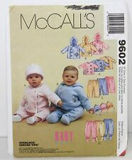 McCall's Pattern 9602 Sz Small - XL 13-24 lb Infants Baby Jacket Pants Hat UNCUT