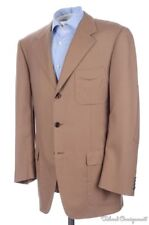 BIJAN Recent Light Brown 100% CASHMERE 3x PATCH POCKET Blazer Sport Coat - 42 R