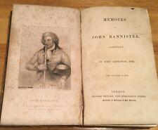 1838 - Memoirs Of John Bannister, Comedian.