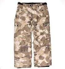 686 Snowboard Pants Camo Ski Mens L Insulated Cargo Waterproof Breathable Winter