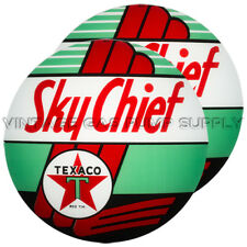"Pair of Texaco Sky Chief 13.5"" Gas Pump Lenses (G196)"