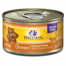Wellness Complete Health Natural Grain Free Wet Canned Cat Food, Gravies Chicken