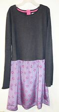 New Boden Johnnie B Gray/Purple Star Dress Girl's Size 13-14
