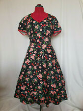 Voodoo Vixen Cherry Blossom Pink Black Pinup Swing Rockabilly Dress Size 2XL