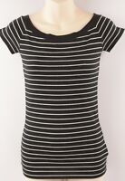 LAUREN RALPH LAUREN Women's Striped Stretch Top, size XXS