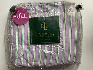 NEW Ralph Lauren FULL Bedskirt WATERMILL Lavender Ruffle Purple Green White